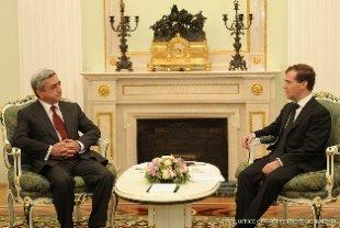 В Москве состоялась встреча Медведев – Саргсян